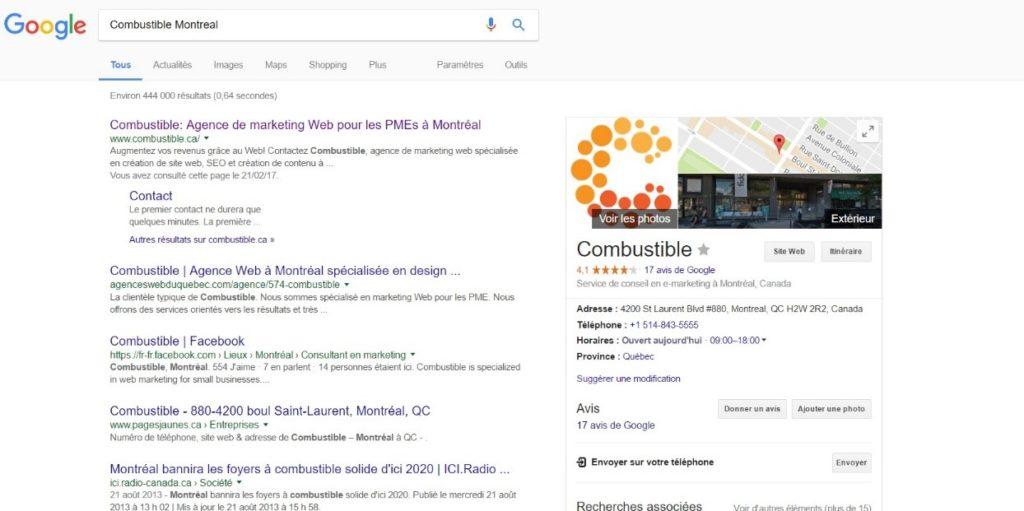 recherche google search